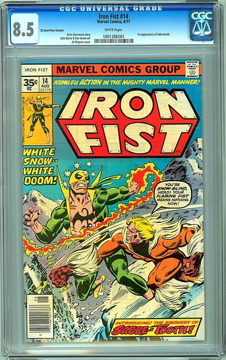 Iron Fist #14 - CGC 8.5 - 35 Cent Price Variant
